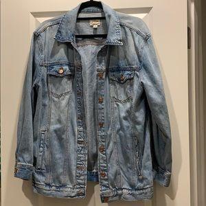 JCrew Oversized Light Wash Denim Jacket